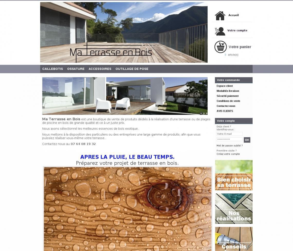 terrasse bois vente en ligne. Black Bedroom Furniture Sets. Home Design Ideas
