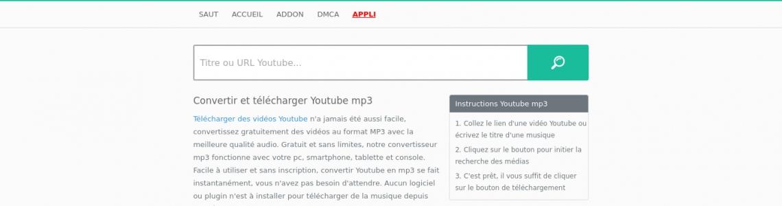 convertir une video youtube en mp3 sans logiciel