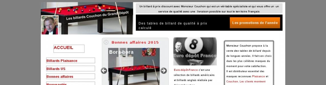 le site du grand d p t pour choisir un billard de qualit. Black Bedroom Furniture Sets. Home Design Ideas