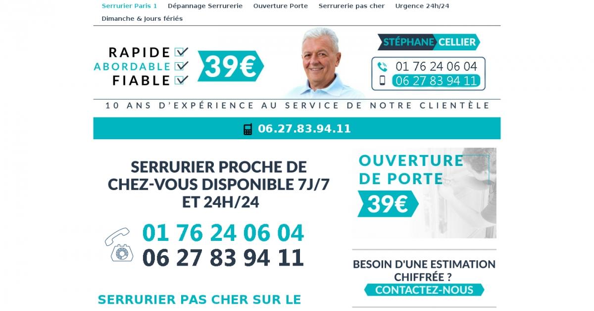 Serrurierparis1 pascherfr adresse et avis sur le bottin for Serrurier paris pas cher