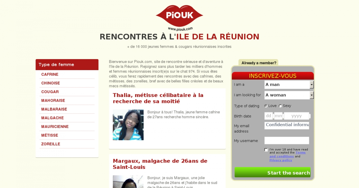 Site de rencontre reunion