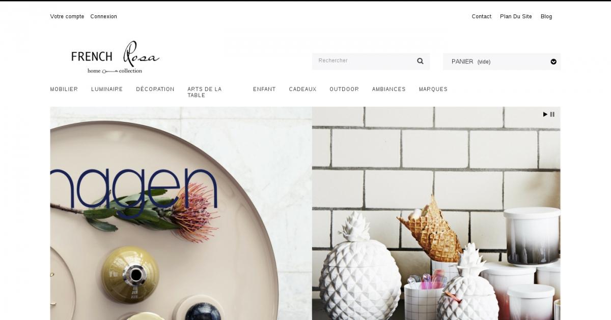 Frenchrosa boutique en ligne de mobilier et objets de Boutique en ligne decoration maison