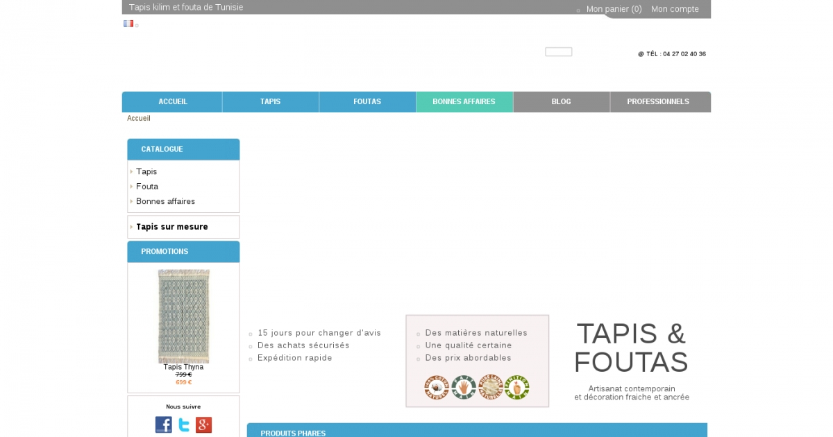 Sajada vente en ligne de tapis et foutas de tunisie - Vente de tapis en ligne ...