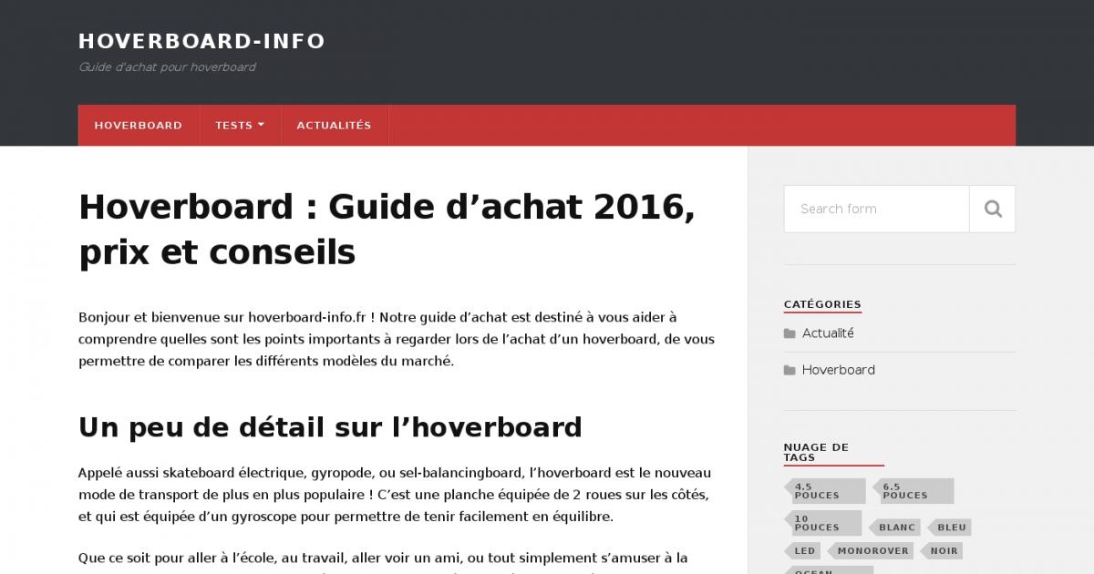 hoverboard guide d 39 achat et prix 2016 des hoverboards. Black Bedroom Furniture Sets. Home Design Ideas