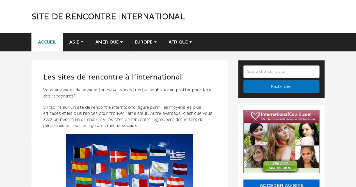 Site de rencontre international