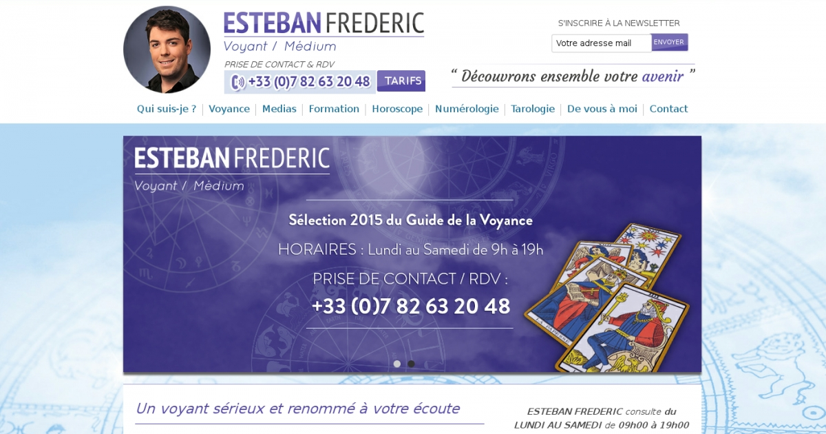 b161c1f97cd5e4 Esteban FREDERIC, votre meilleur professionnel de voyance.