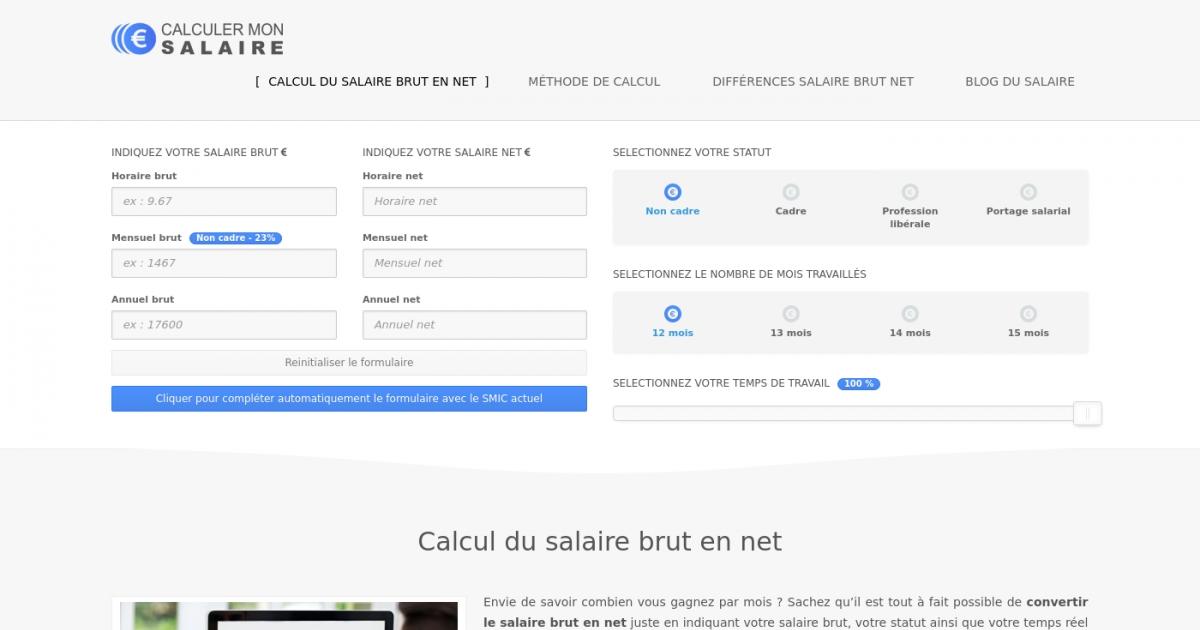 Calculer Salaire Brut Net Fr Adresse Et Avis Sur Le Bottin