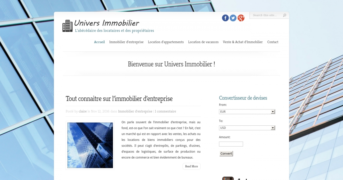 Univers Immobilier Guide Pour Tout Savoir Sur L Immobilier D Entreprise