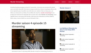 Murder Streaming, site de streaming
