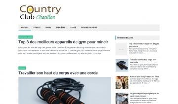 Country Club Châtillon, le journal d'information sur le fitness