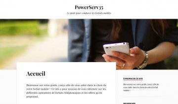PowerServ35, le comparateur des forfaits mobiles en France