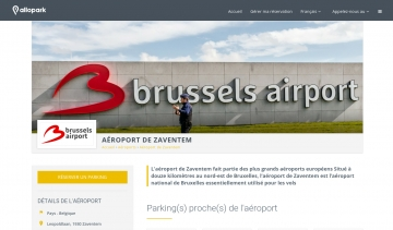allopark.com/fr/aeroport/parking-zaventem, réservation de parkings