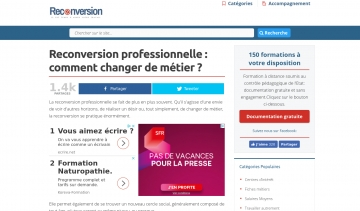 Reconversionprofessionnelle.org, le blog sur la reconversion professionnelle