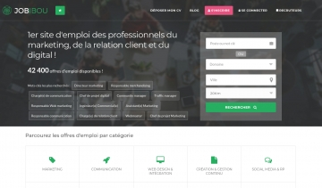 JOBIBOU : la plateforme de recrutement des professionnels du marketing