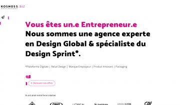 Kosmoss.fr, agence de design Sprint et de design Global