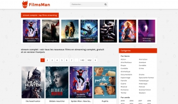 Filmsman, site de streaming de films