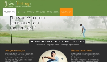 Golf Fitting, réservation de fitting sur Internet