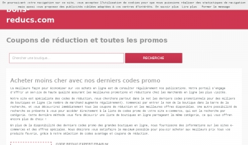 codes réduction