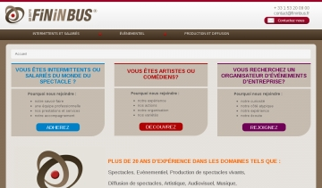 Fininbus gestions des intermittents et organisation de spectacles