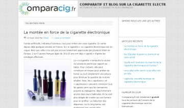 comparacig blog de cigarette electronique