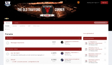 Old Trafford Corner, Communauté fan de Manchester United
