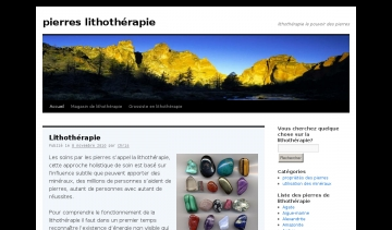 blog de lithotherapie