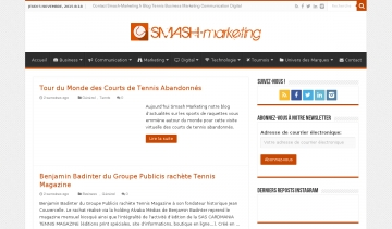 Smash Marketing blog actus sports de raquettes