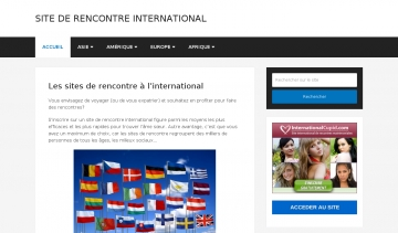 Site de rencontre international, guide pour faire une rencontre internationale