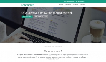 OTO-Creative : Conception de sites web modernes à Paris