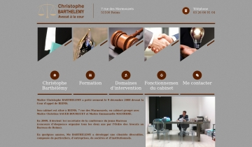 Me Christophe BARTHELEMY, avocat au Barreau de Reims