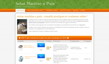 Achat machine à pain, guide d'achat de machine à pain