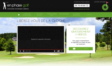 En phase golf, coaching technique et mental en golf