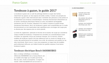 France gazon, guide de tondeuse à gazon de qualité