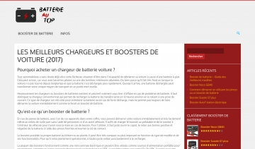 Batterie au Top, guide web sur les boosters de voitures