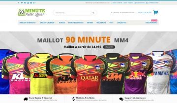90 Minute, boutique de vente de maillots officiels