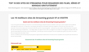 Site-streaming, le guide des meilleurs sites de streaming