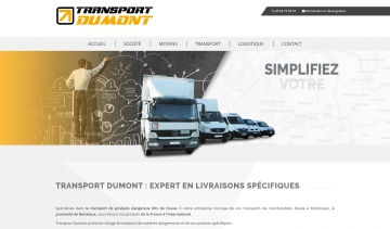 Transport Dumont, entreprise de transport à Bordeaux