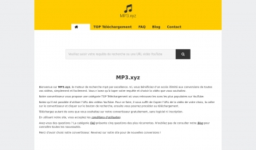 Mp3.xyz, convertisseur mp3 de vidéos YouTube