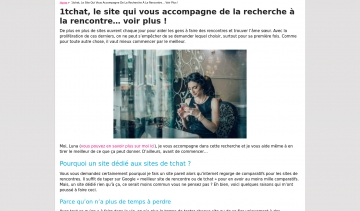 1Chat, votre guite de sites de rencontre