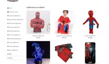 Spiderman-boutique.fr, la maison de vente dédiée aux fans de Spiderman