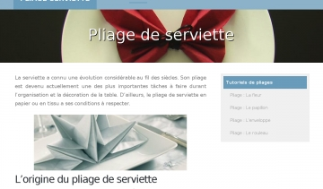 Site pliage-serviette.fr
