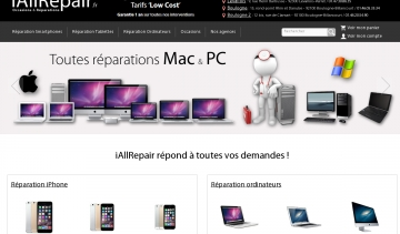iAllRepair : reparation smartphones, tablettes tactiles, ordinateurs