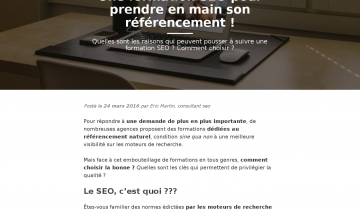 Formation SEO, guide sur les formations SEO à Paris