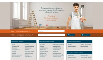 Artidirect, catalogue de professionnels de la construction