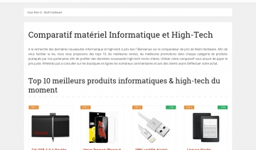 Multi Hardware, comparateur de prix informatique